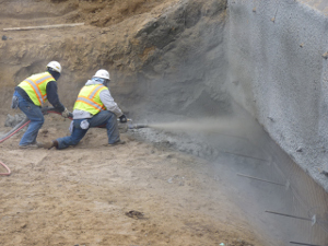 Shotcrete installation in Minnesota & North Dakota